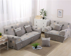 Image Is Loading Spandex Stretch Floral Sofa Cover Couch Protector For
