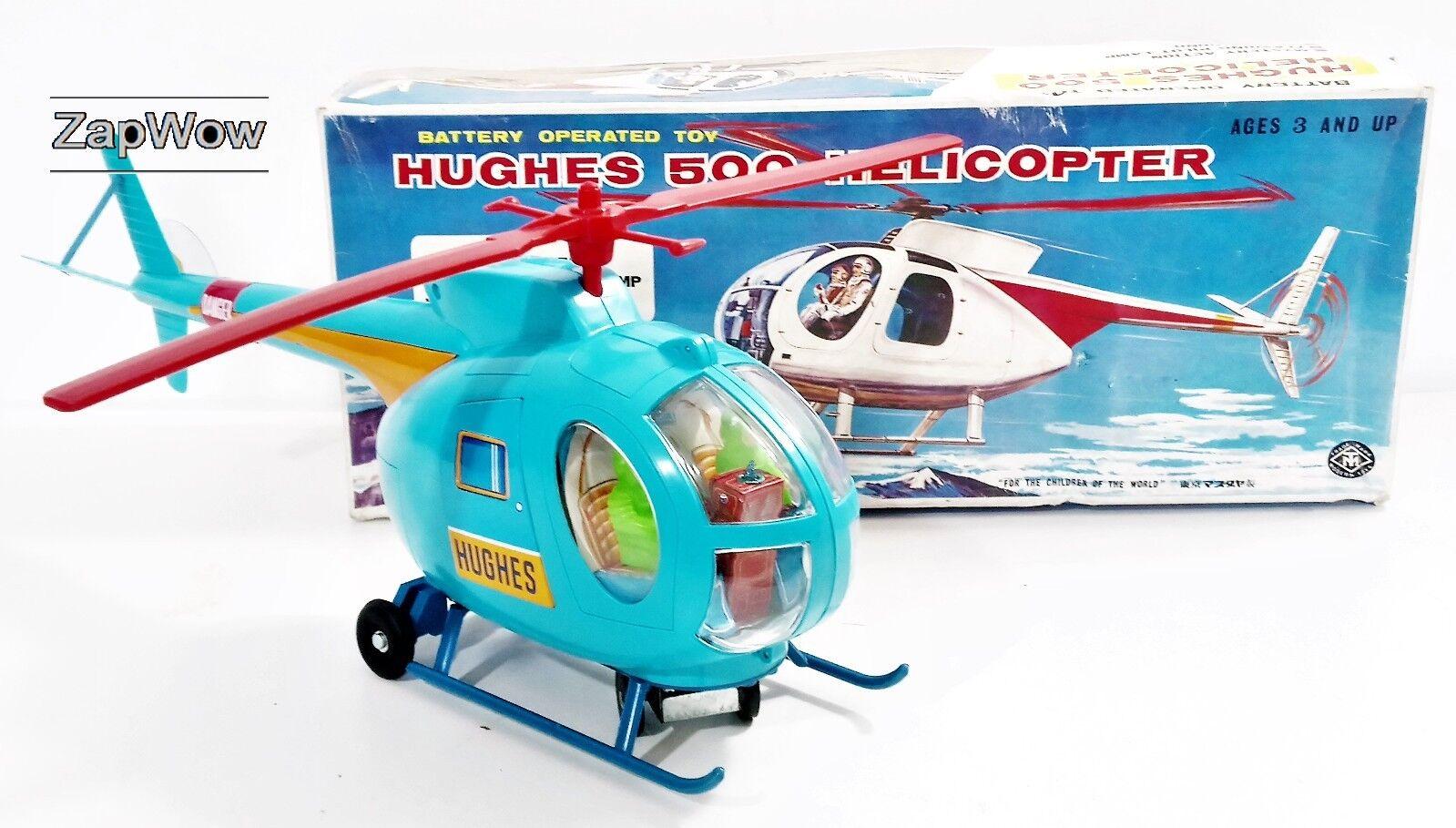 HUGHES 500 HELICOPTER 1970s Masudaya Magnum PI Detective Modern Toys Electronic