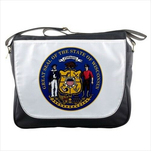 Tabard Surcoat Seal of Wisconsin United States Messenger Bag
