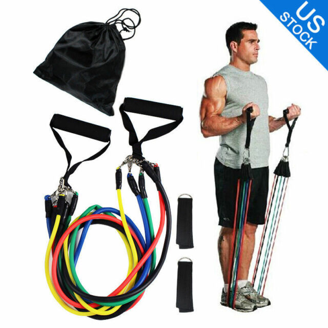 Workout Bands That Don T Roll: 2 Sets X 11 Pcs Resistance Band Set Yoga Pilates ABS