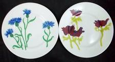 Rosina Queens FIELD FLOWERS 2 Salad Plates Bone China GREAT CONDITION