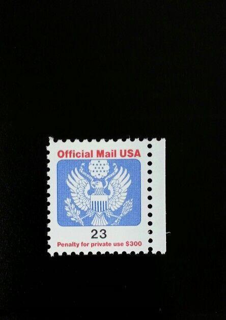 1991 23c Eagle Official Mail USA Red & Blue Scott O148