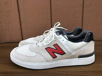 New Balance All Coasts 574 White Red Grey Men US 13 D AM574WHR Skate Shoes C9   eBay