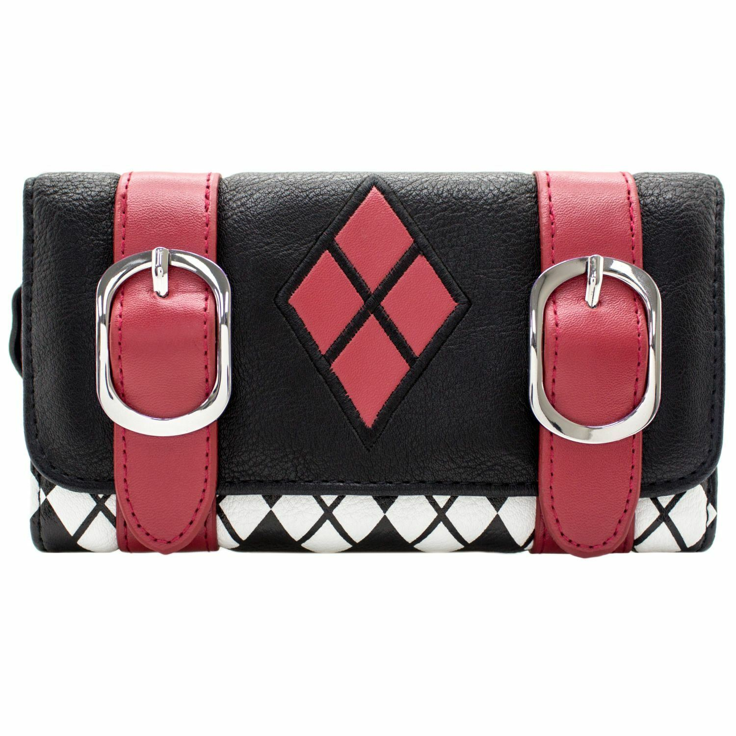 Official Suicide Squad Harley Quinn Buckle Black Coin & Card Purse *SECOND*