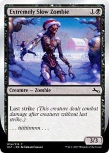 "MTG Unstable NM Magic Re 4x Extremely Slow Zombie VAR: C - /""...iiiiiiinnnn.../"""