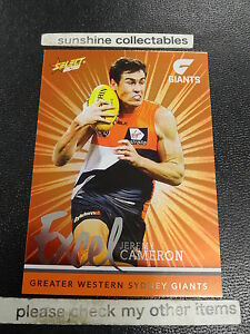 2016 AFL SELECT FOOTY STARS EXCEL CARD NO.EP101 JEREMY CAMERON GWS