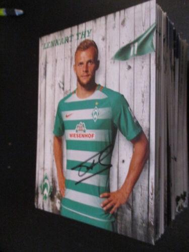 72744 Lennart Thy Werder Bremen 16-17 original signierte Autogrammkarte
