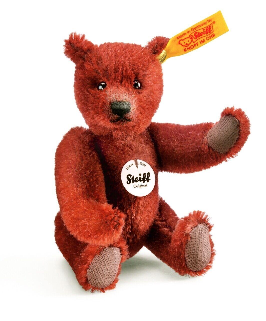 Steiff Classic Mini Teddy Bear EAN 040252 MOHAIR 4.7 inches  12cm
