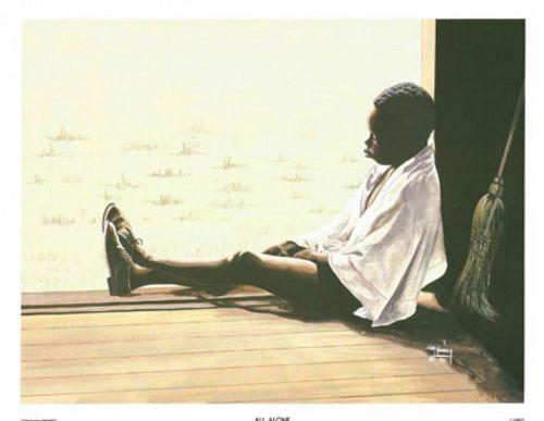 AFRICAN AMERICAN ART PRINT All Alone Tom McKinney