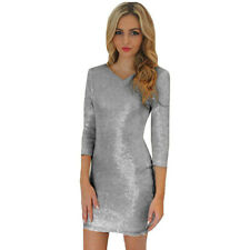 5819e4302704 item 1 Womens Glitter Sequin 3 4 Sleeve Cocktail Party Evening Club Bodycon  Mini Dress -Womens Glitter Sequin 3 4 Sleeve Cocktail Party Evening Club  Bodycon ...