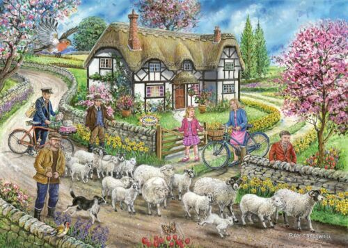 1000 PIECE JIGSAW PUZZLE The House Of Puzzles Daffodil Cottage