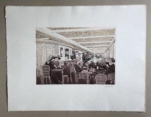 Herbert-Grunwaldt-Cafe-Parisien-auf-der-Titanic-Farbradierung-1985-signiert
