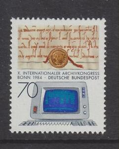 1984-GERMANIA-OVEST-Gomma-integra-non-linguellato-TIMBRO-Deutsche-Bundespost-ARCHIVIO-CONGRESSO-Bonn