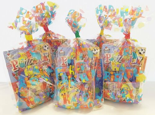 10 x HAPPY BIRTHDAY PRE FILLED KIDS UNISEX PARTY LOOT BAGS FOR GIRLS BOYS