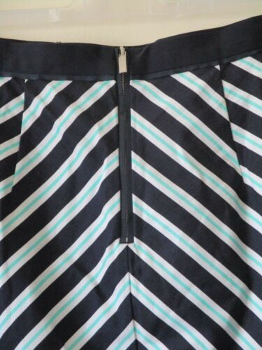 Sz New Stripe Siren Mint Skirt 12 Navy Oasis Wiggle White 1950s Blue Pencil g7xR56v6wq