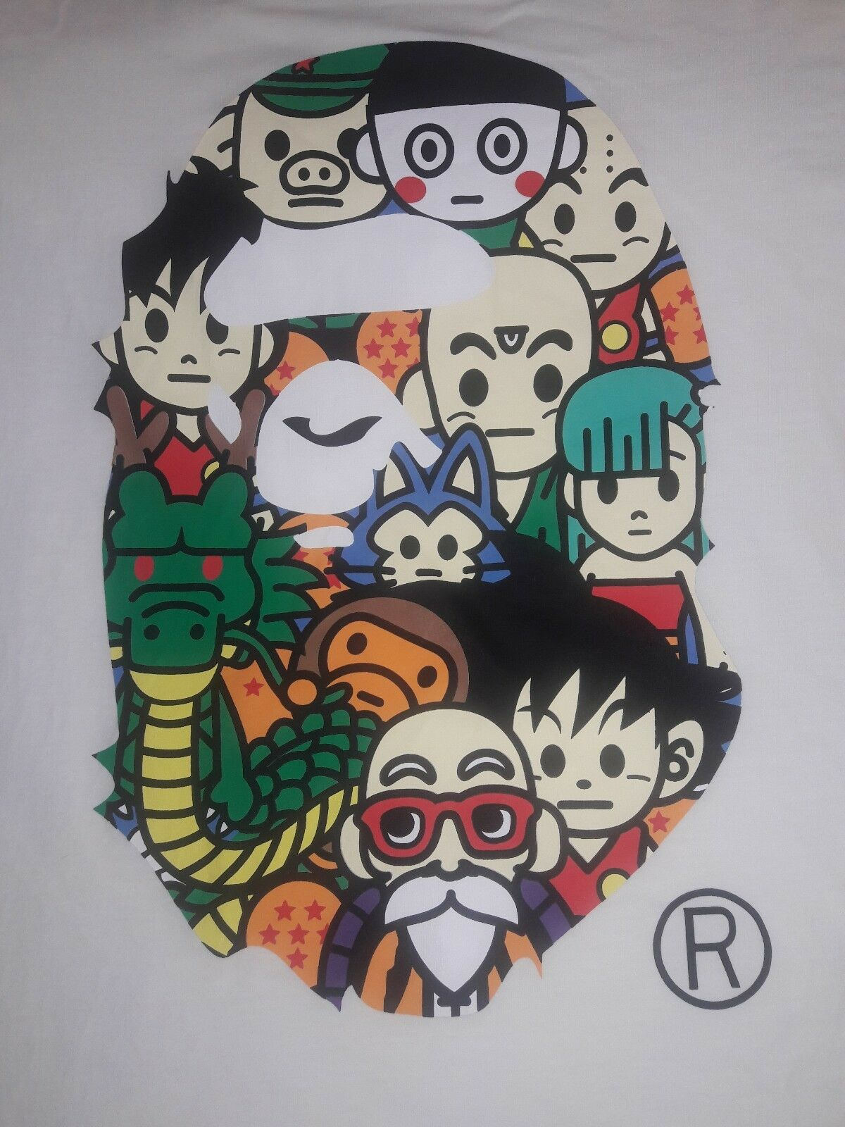 Bape Dragon Ball Z Collab Shirt A Bathing Ape DBZ supreme RAP HIP-HOP RARE