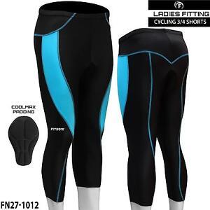 Femmes Cyclisme Collants 3//4 Short Rembourré Femmes Leggings Anti bac Coolmax Pad