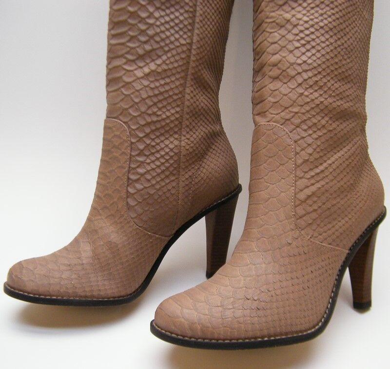 Damenschuhe COLE HAAN TALL KNEE HIGH HEEL TAN SNAKE 6.51/2 SKIN PRINT Stiefel SZ 6.51/2 SNAKE B ddc757