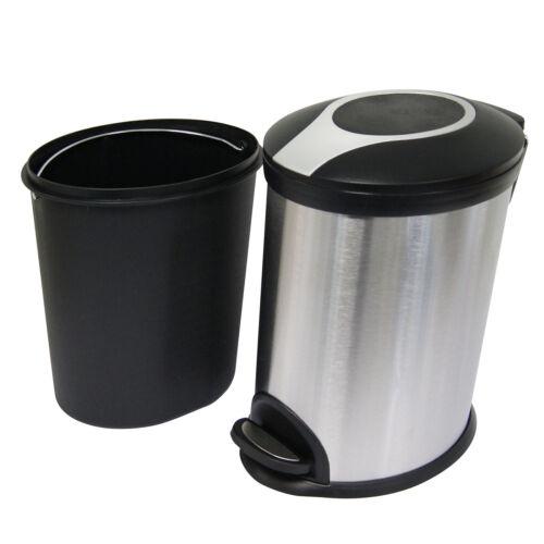 Poubelle à pédale en acier inoxydable salle de bains cuisine Recyclage Poubelle Recyclage General Waste