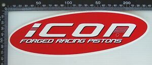 GENUINE-ICON-FORGED-RACING-PISTONS-NASCAR-SPONSOR-ADVERTISING-CAR-PROMO-STICKERS