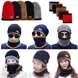 1fef33fd100 Womens Winter Scarf Beanie Warm Fleece Set Hat Ski Warmer Neck Cap ...