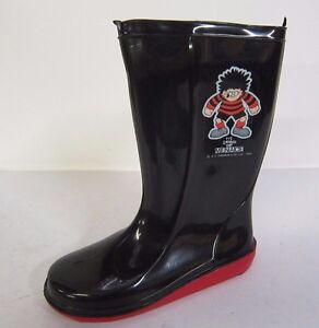 Boys Black Dennis The Menace Wellington Boots Boys' Accessories Great Price