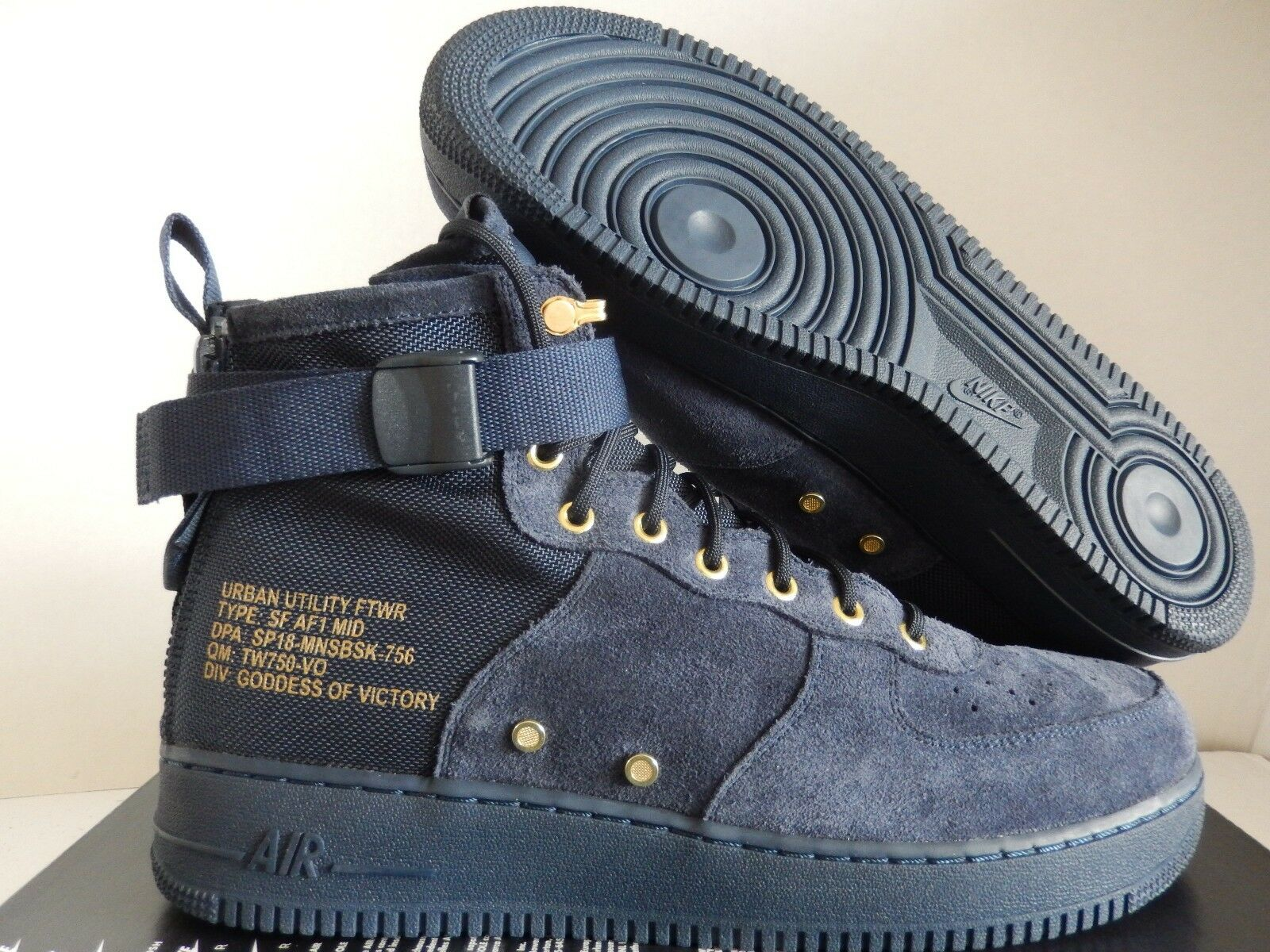 NIKE AIR FORCE 1 SF AF1 MID SPECIAL FIELD OBSIDIAN NAVY blueE SZ 13 [917753-400]