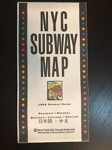 1992 Nyc Subway Map.Details About Multi Lingual 1992 Nyc New York City Subway Map Pocket Mta Guide Nycta