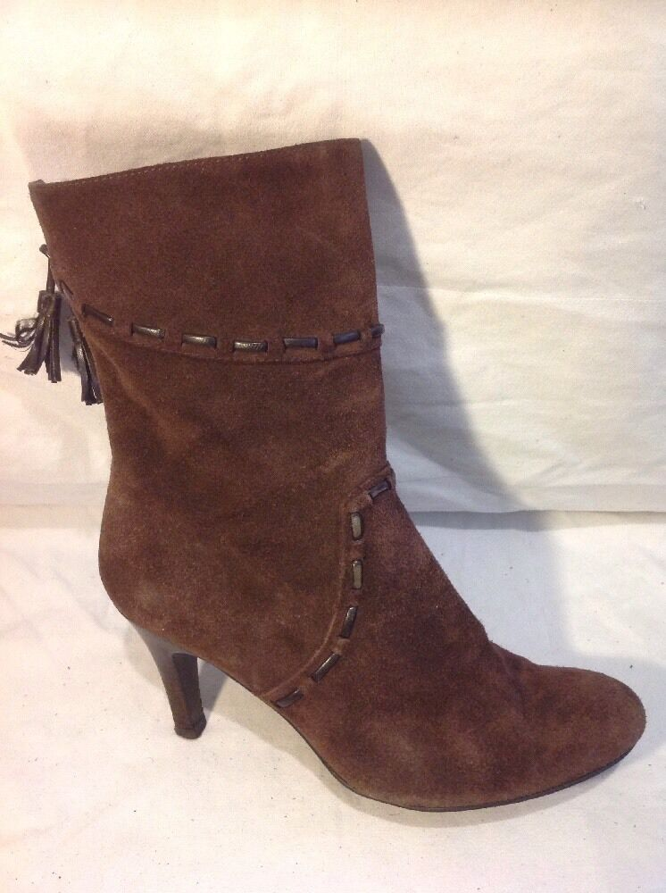 Marks&Spencer Brown Mid Calf Suede Boots Size 7