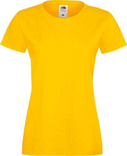 XXL Fruit of the Loom Damen T-Shirt Sofspun Shirts Lady-Fit Baumwolle Gr XS