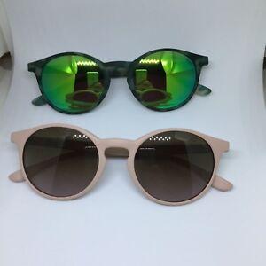 SARAGHINA-GILDA-occhiali-da-sole-bianco-rosso-verde-cipria-round-sunglasses