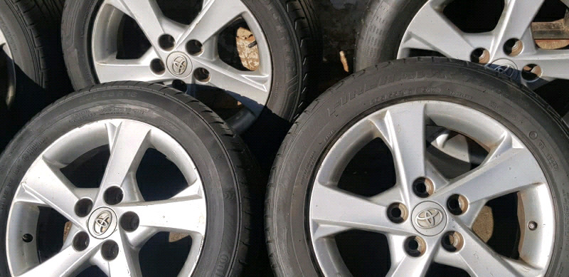 SET of Mags and Tyres 16Inch TOYOTA Prestige and Quest Models