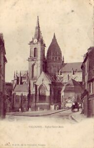 CPA-50-pres-Cherbourg-VALOGNES-Eglise-Saint-Malo-Attelage-1904-Animee