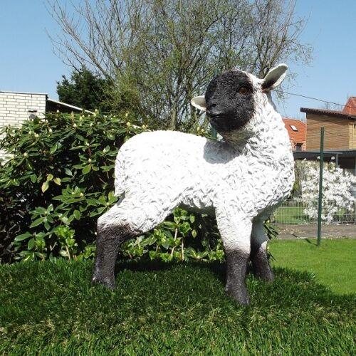 Gartenfigur Lamm 2872 Schaf Haus Garten Deko lebensecht Figur