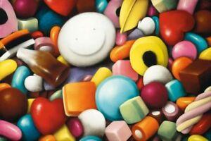Doug-Hyde-PICK-ME-MOUNTED-Cute-Art-Print-Fun-Sweets-Sweeties-Pic-N-Mix