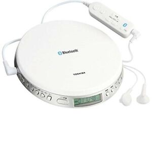 TOSHIBA-Portable-CD-Player-Speed-Control-TY-P3-W-Bluetooth-Remote-Control-White