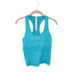 Lululemon-Womens-6-Swiftly-Tech-Tank-Race-Length-Crop-Solid-Teal-Active-Wear