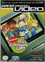 Gba Video: All Grown Up Vol. 1 (game Boy Advance, 2004) Factory Sealed