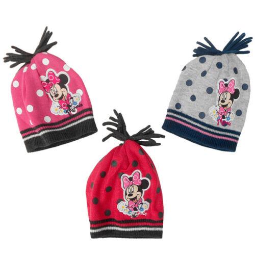 Hut Wintermütze Mütze mit Fransen- 52-54cm Disney Minnie Maus
