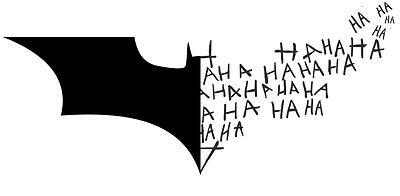 Vinyl Decal Sticker Car Truck Window - Batman Logo Symbol + Joker Laugh HA  HA HA | eBay