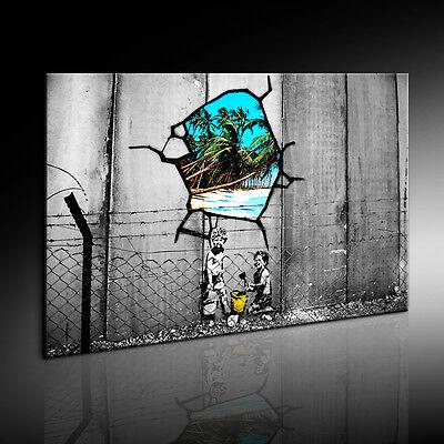 Banksy Graffiti Leinwandbild Wandbild Kunstdruck Posterdruck Fotoleinwand 24 -6