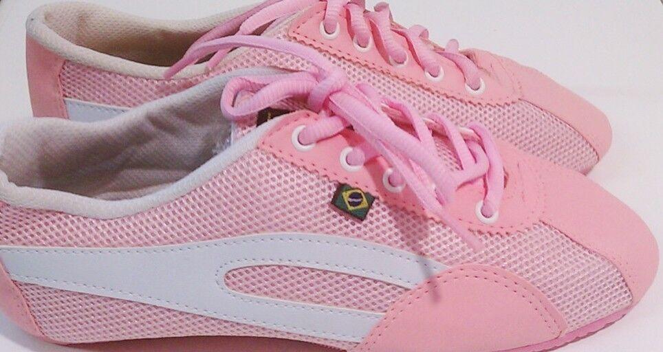 Taygra Brasil Pink & Weiß Slim Schuhes Sneakers Flexible & Light Schuhes Slim Größe 44 5ae713
