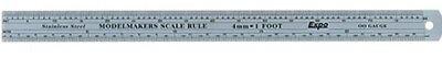 Collezione Qui Modelmakers Scale Rule O Gauge / 7mm = 1 Foot Stainless Steel Expo 74107 Rimozione Dell'Ostruzione