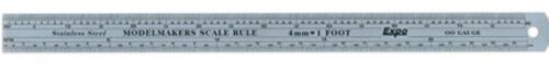 2mm = 1 FOOT STAINLESS STEEL EXPO 74102 MODELMAKERS SCALE RULE N GAUGE
