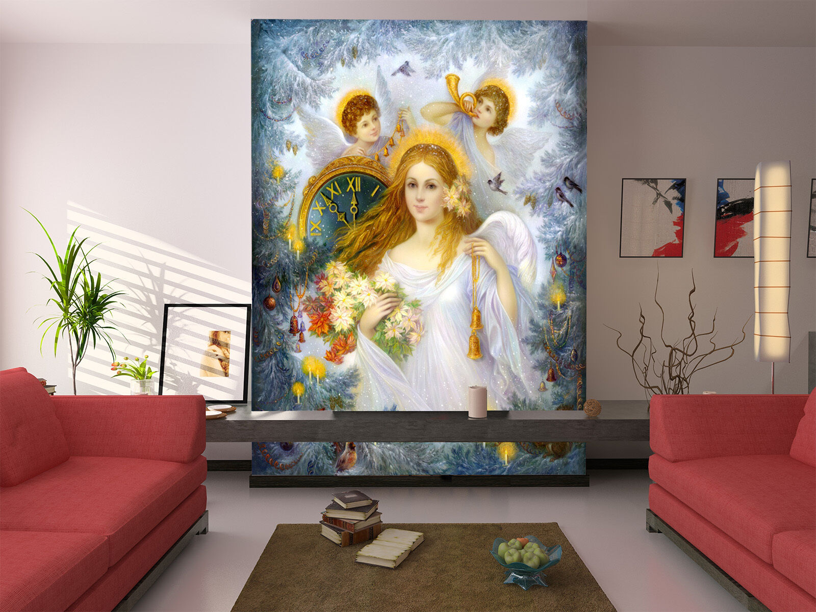 3D Angel girl painted 11 Wall Paper wall Print Decal Wall Deco Indoor wall Mural