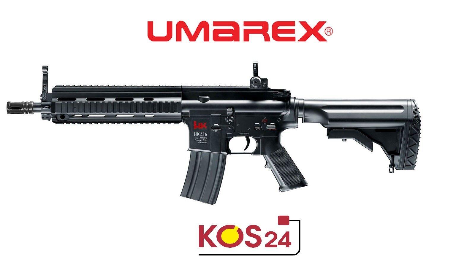 Elektrische Gewehr Softair - Gewehr Elektrische Schnellfeuerkarabiner HK 416C mit Akkus <0,5Joule 259a17