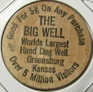 Vintage C.N Herington Token Kansas Tufts /& Co KS Wooden Nickel
