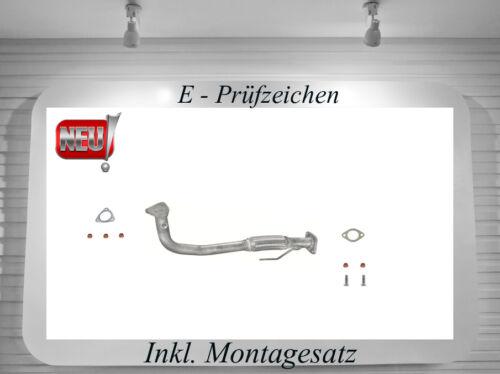 Montagesatz 63KW//86PS Cabrio Hosenrohr Fiat Punto 176 1.2 Abgasrohr Auspuff