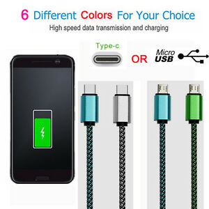 0-5M-Lot-HIGH-SPEED-Charger-Micro-USB-Type-C-Cable-Fast-Sync-Data-Lead-Cord