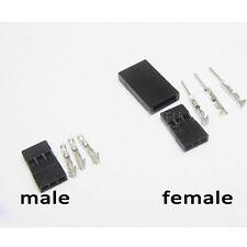 5sets Male/female Batttery/servo Connector Plug for RC Jr Futaba Set